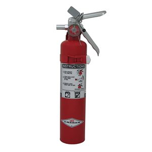 Amerex B410T, 2.5lb BC Purple K Dry Chemical Fire Extinguisher