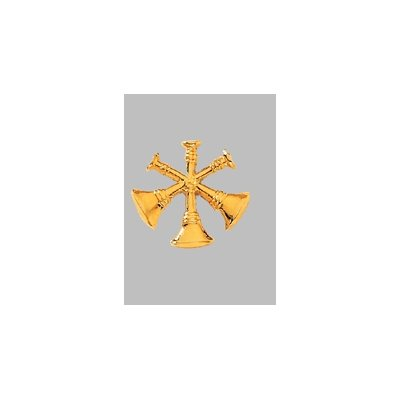 Blackinton Gold Three Crossed Collar Insignia