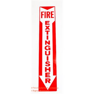 Aluminum Fire Extinguisher Sign