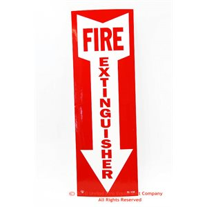 Sign,Vinyl,Fire Extg,4x12,Arro
