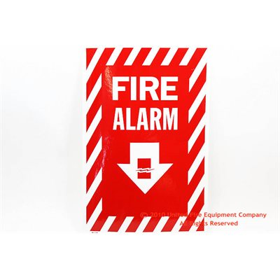 Sign,Vinyl,Fire Alarm,8x12