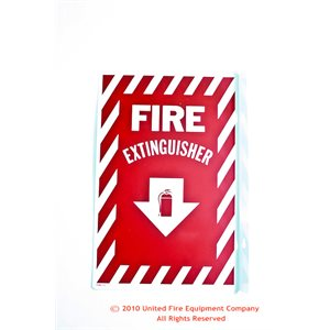 Brooks Fire Extinguisher Arrow Sign