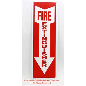 Plastic Fire Extinguisher with Arrow Sign