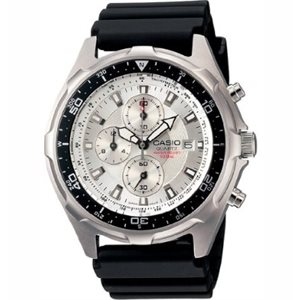 Casio Dive Chronograph Resin Strap Watch