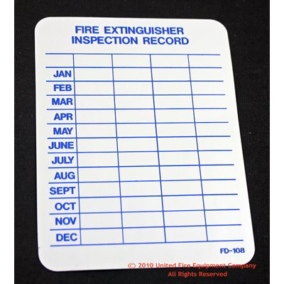 Monthly Inspection Tag